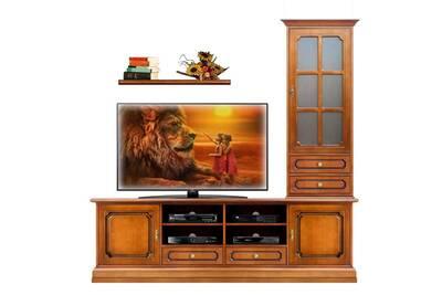 Meuble Tv Arteferretto Meuble Support Tele En Bois Pour Salon Avec Vitrine 1 Porte Assortie Meubles Pour Salon Meuble Tele Vitrine Avec Tiroirs Darty