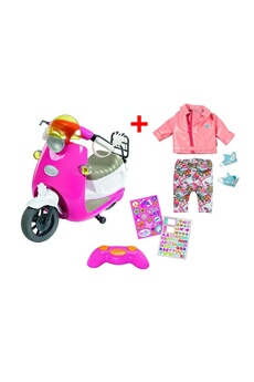 Peluches Zapf Creation Zapf creation 824771 + 825259 set scooter city rc de baby born avec combi scooter deluxe