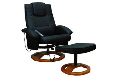 Fauteuil de massage Helloshop26 Fauteuil de massage confort relaxant massage chauffage massant détente noir helloshop26 1702002