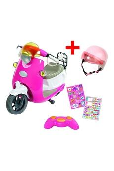Peluches Zapf Creation Zapf creation 824771 + 825914 set scooter city rc de baby born avec casque (nouveau modèle)