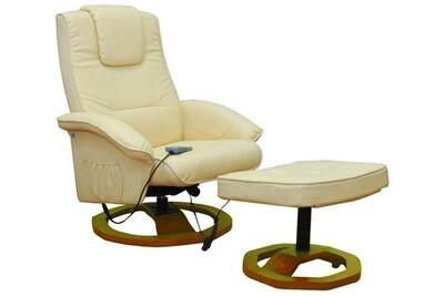 Fauteuil de massage Helloshop26 Fauteuil de massage confort relaxant massage chauffage massant détente beige helloshop26 1702001