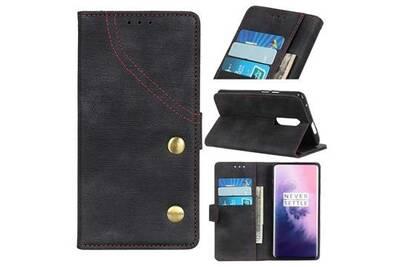 Coque Smartphone Mobile24 Etui Portefeuille Oneplus 7 Pro Serie Jean Noir Darty