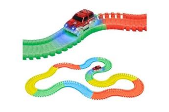 Circuits de voitures World Tech Toys World tech toys - circuit de voiture flexible, modulable, luminescent avec ses accessoires - 220 pièces--