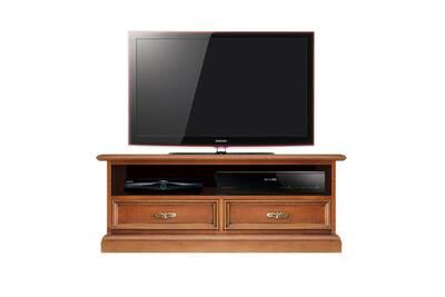 Meuble Tv Support En Bois Pour Barre De Son Avec Tiroirs Et Niche Largeur 94 Cm Meuble Ecran Plat Petite Taille Meuble Tele Bas