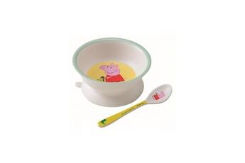 Vaisselle bébé PETIT JOUR Bol ventouse et cuillere peppa pig