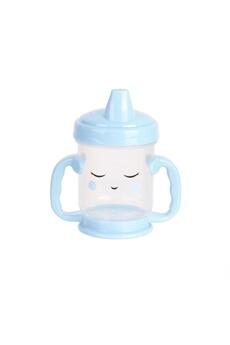 Vaisselle bébé Tom Et Zoe Tasse de transition avec bec baby - anti fuite - 210 ml - bleu