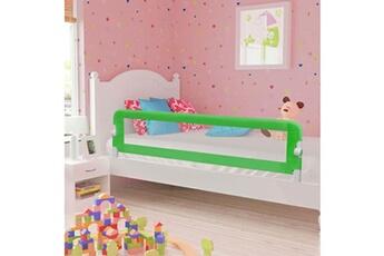 Barrière de lit Vidaxl Barrière de sécurité de lit enfant vert 180 x 42 cm polyester