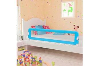 Barrière de lit Vidaxl Barrière de sécurité de lit enfant bleu 180 x 42 cm polyester
