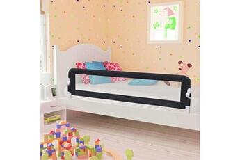 Barrière de lit Vidaxl Barrière de sécurité de lit enfant gris 180x42 cm polyester