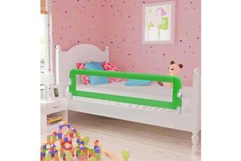 Barrière de lit Vidaxl Barrière de sécurité de lit enfant gris 120x42 cm polyester