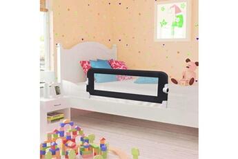 Barrière de lit Vidaxl Barrière de sécurité de lit enfant gris 102x42 cm polyester