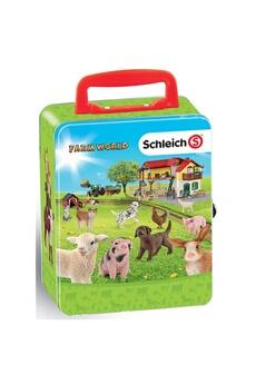 Figurines personnages THEO KLEIN Theo klein 3113 coffret de rangement pour 18 bébés animaux schleich