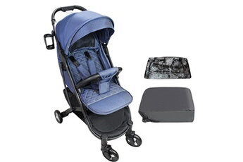 Poussette combinée Todeco Baby stroller, child pushchair, bleu, with cup holder, carry bag and rain cover, matériau: polyester