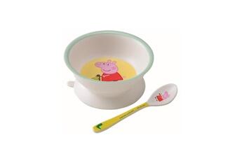 Vaisselle bébé Petit Jour Paris Bol ventouse et cuillère peppa pig