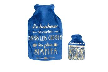 Bouillotte enfant The Home Deco Factory Bouillotte 1 litre avec chaufferette de poche bonheur