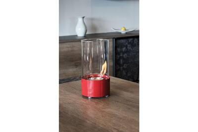 Cheminée bio-éthanol Tecno Air System Cheminée de table au bioéthanol rouge chauffage ameublement maison sorrento