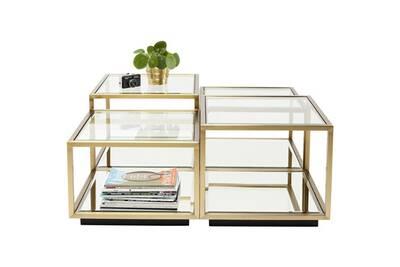 Table Basse Kare Design.Tables Basses Luigi Dorees Set De 4 Kare Design