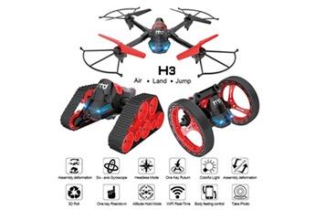 Véhicules radiocommandés Generic 2.4g 6-axis wifi fpv drone 0.3mp caméra terre-air-saut 3mode assemblez deformation shui29