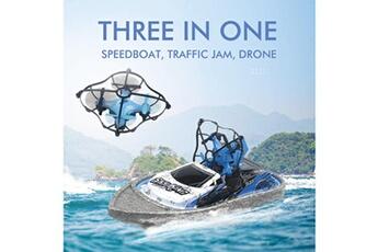 Jouets éducatifs Generic Multifonction 3 en 1 vol air driving mode bateau terre 2.4g rc drone amovible 706