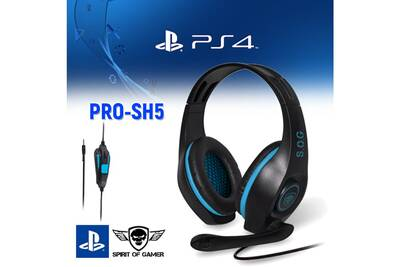 Casque Audio Pro Sh5 Pour Ps4 Spirit Of Gamer Stereo 40mm