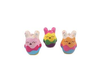 Accessoires de poupées Generic Poupée mini big ear smiley doll jouet de décompression anti-stress pour enfants à croissance lente pealer - multicolore