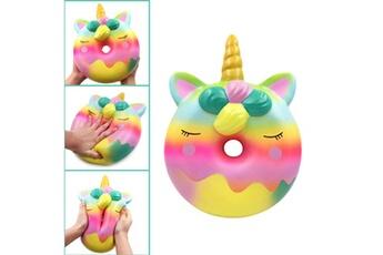 Jouets éducatifs Generic Jumbo rainbow donut stress reliever parfumé super slow rising kids squeeze toy @suoupasora589