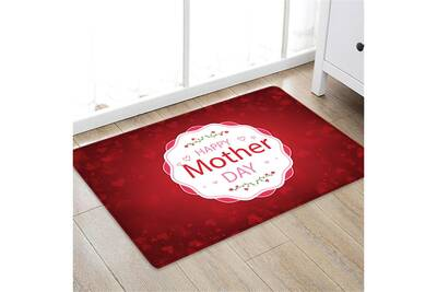 Motif bonne fête des mères place tapis salle de bain cuisine toison 50x80cm  bathroom mats 357