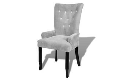 Fauteuil Chaise Siege Lounge Design Club Sofa Salon Avec Cadre En Bois Velours Argente Helloshop26 1102034 2