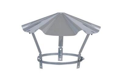 Accessoires chauffage central Joncoux Tampon inox - chapeau inox réglable pour sortie de toit - 130 à 167mm