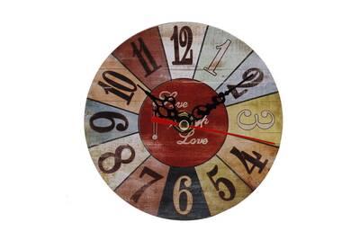 Horloges Generic Horloge Murale En Bois Antique De Style Vintage