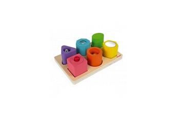 Jouets premier âge Juratoys-janod Puzzle 6 cubes sensoriels bois