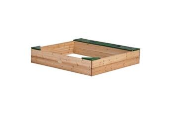 Accessoires pour aire de jeux Axi House Bac sable en bois avec rangements amy