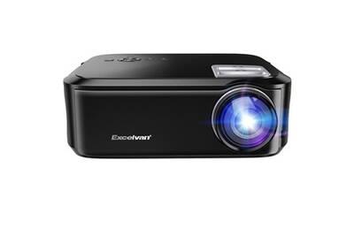 Vidéoprojecteur Excelvan Excelvan bl-76 1080p projecteur 200inch afficher hdmi vga usb multimédia interfaces pour divertissement domicile eu noir | Darty