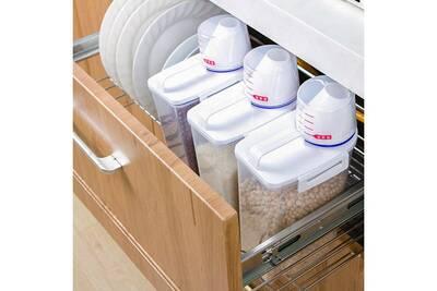 Meuble De Cuisine Generic 2l En Plastique Cereales Distributeur