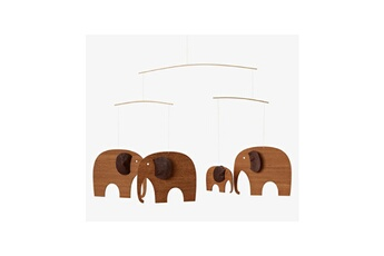 Mobile bébé Flensted Mobiles Mobile elephant party teak