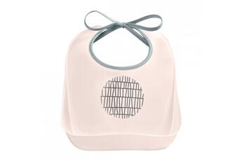 Vaisselle bébé Beaba Bavoir d'apprentissage pink grid