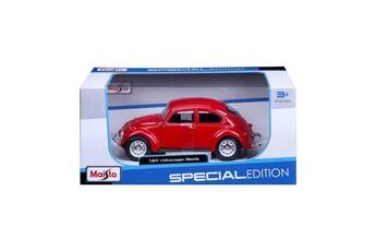 Véhicules miniatures Marque Generique Vehicule a construire - engin terrestre a construire voiture volkswagen coccinelle 1/24eme - rouge