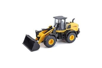 Véhicules miniatures Marque Generique Vehicule a construire - engin terrestre a construire véhicule de construction chargeuse w170d new holland 1/50eme - jaune
