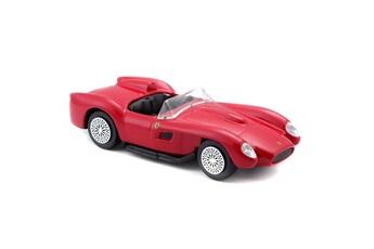Véhicules miniatures BBurago Icaverne vehicule a construire - engin terrestre a construire voiture ferrari testarossa 1/43eme - rouge