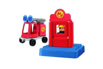Véhicules miniatures Marque Generique Vehicule a construire - engin terrestre a construire clipo camion de pompier
