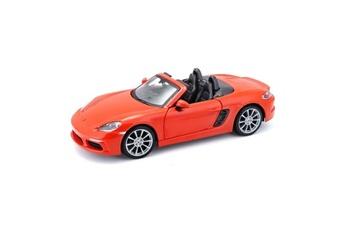 Véhicules miniatures Marque Generique Vehicule a construire - engin terrestre a construire voiture porsche 718 boxter 1/24eme - orange