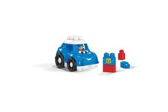 Véhicules miniatures No-name Vehicule a construire - engin terrestre a construire megabloks - lil'véhicule voiture de police - 12 mois et +