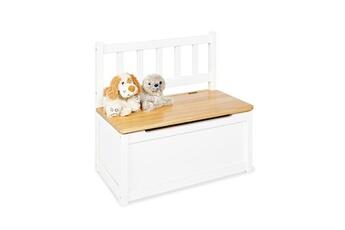 Coffre à jouets Pinolino Banc coffre enfant fenna blanc l 57 x p 31 x h 55