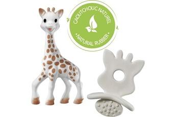 Anneau de dentition Vulli Icaverne anneau de dentition sophie la girafe coffret natural soother so pure - jouet sophie et sucette de dentition