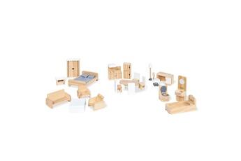 Accessoires de poupées Pinolino Ensemble de 20 meubles de maison de poup es