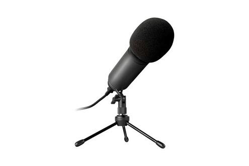 Microphone de bureau newskill kaliope led noir
