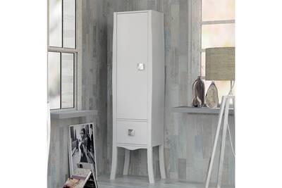 colonne de salle de bains laque blanc 170 cm alcazar