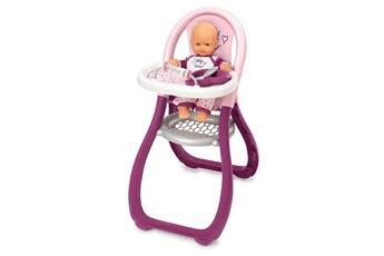 Poupées SMOBY Chaise haute poupon + 2 accessoires