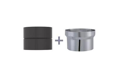 Accessoires chauffage central Joncoux Manchette avec antibistre femelle/femelle email noir anti-bistre - diamètre intérieur 153 mm