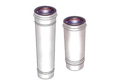 Accessoires chauffage central Ubbink Conduit inox/galva blanc concentrique - intérieur isolé - l 500 mm